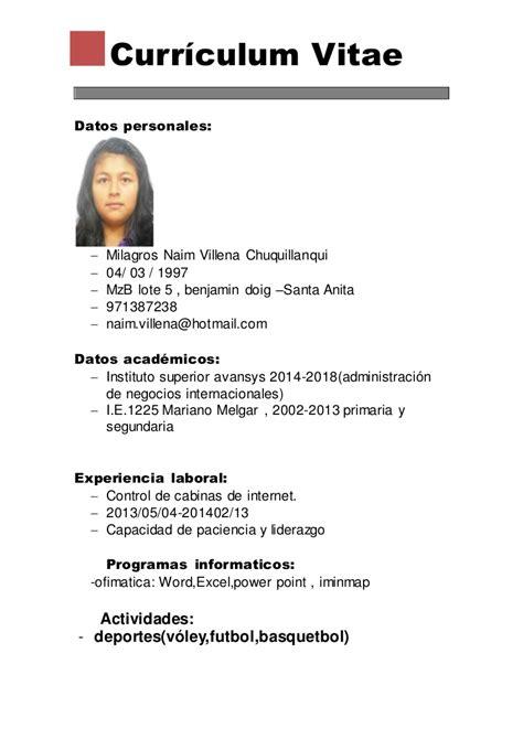 Modelo Curriculum Teleoperador De Ivl De Adrian Y Gerard Mayo 2016
