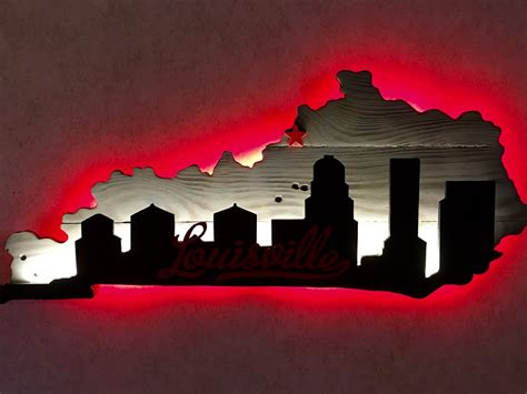 Louisville Ky Skyline Outline by Kentucky Outline With Louisville Skyline Country Heritage Creations