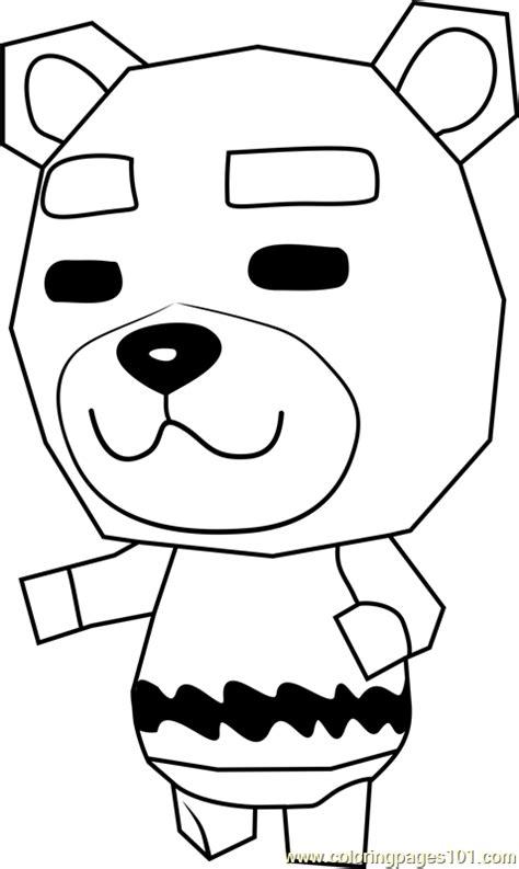 Murphy Animal Crossing Coloring Page - Free Animal