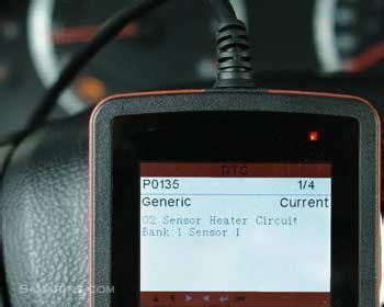 code p heated oxygen sensor heater circuit