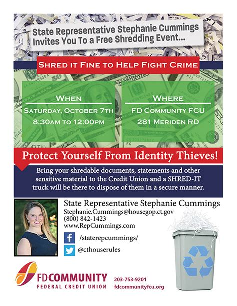 Forum Credit Union Shred Day 2017 rep fd community fcu to host shred day to