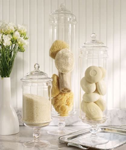 bathroom apothecary jar ideas fillers for apothecary jars lori s favorite