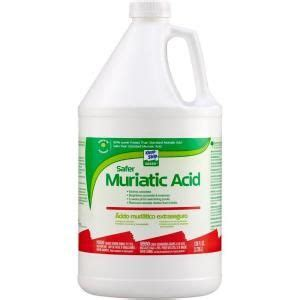 klean 1 gal green safer muriatic acid gkgm75006 at
