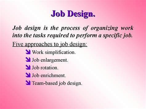 design is job human resource management session 3 designing jobs and