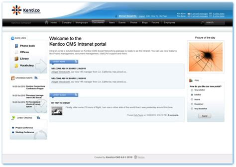intranet templates cms intranet driverlayer search engine