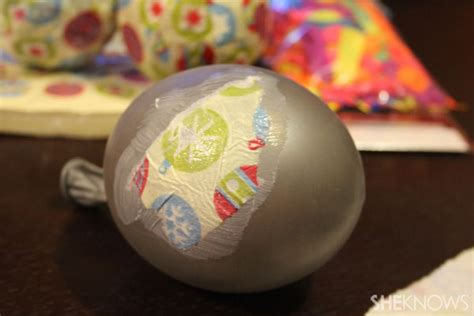 decoupaged papier mache ornaments diy paper mache ornaments