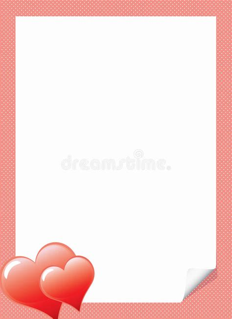 love letter template with hearts stock vector
