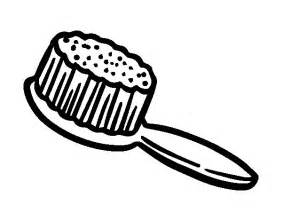 Hair Brush Coloring Pages sketch template