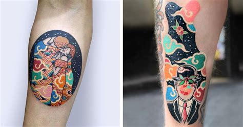 south korean tattoo south korean artist gives classic an