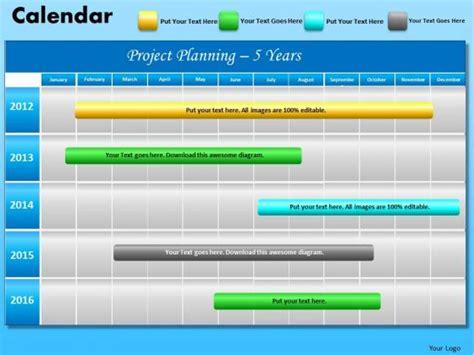 ppt calendar template powerpoint layout executive education blue calendar 2012