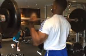 Olympic Weights Bench Anthony Joshua Lifts Heavy Just Days After Making Light