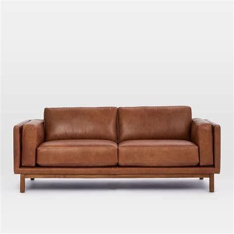 dekalb couch dekalb leather sofa 85 quot west elm