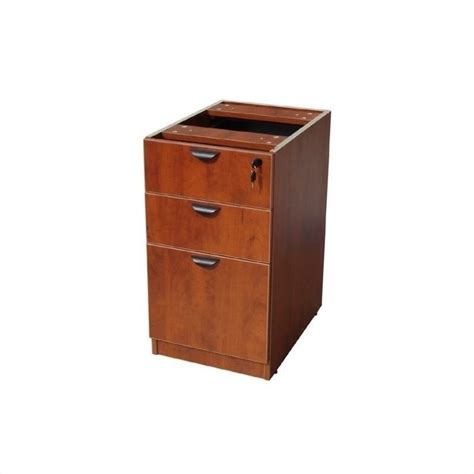 3 drawer wood file cabinet in cherry n166 c