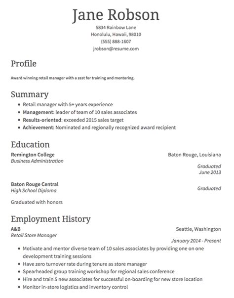 Retail Resume by How To Write A Retail Resume Classic Format Exles