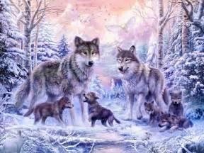 Wolf Wall Murals winter wolf family wall mural amp photo wallpaper photowall