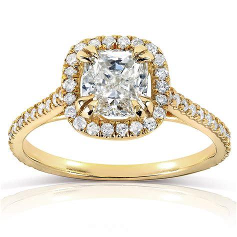 cushion cut halo engagement ring 1 1 3 carat ctw