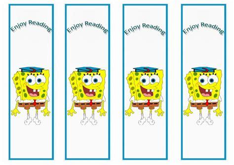 printable spongebob birthday decorations spongebob bookmarks birthday printable
