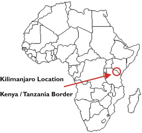 africa map kilimanjaro the kilimanjaro climb molly hart milroy