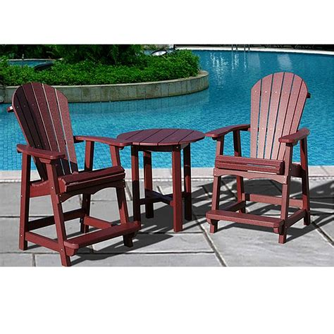 recycled plastic patio table and chairs object moved
