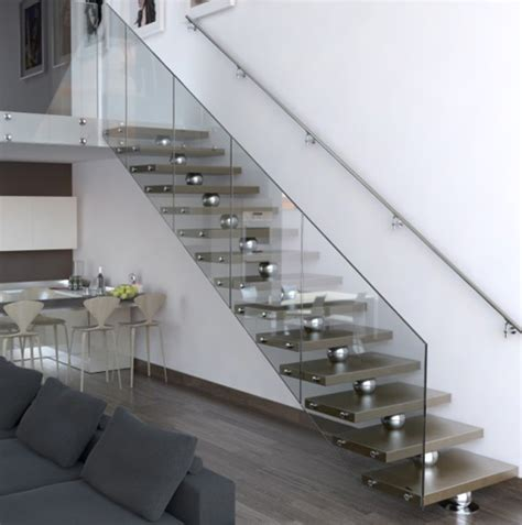 unique stairs home interior design straight edges stainless steel