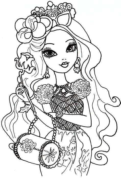 ever after high pet coloring pages free printable ever after high coloring pages briar