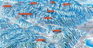 Utah Ski Resorts Map by Half Nut Development Utah Ski Resort Trail Maps