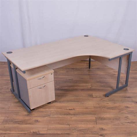 Corner Desk Maple Maple 1800x1200 Corner Workstation Cw75