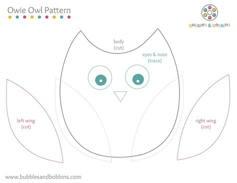 template of owl owie owl pattern
