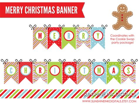 printable feliz navidad banner printable merry christmas banner christmas decoration