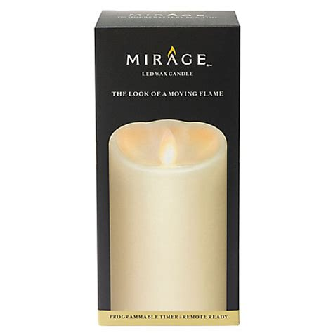 buy mirage small diameter led wax pillar candle h17 5cm x