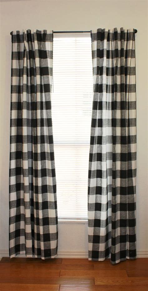 Buffalo Plaid Curtains 10 Lovely Black And White Gingham Curtains Kinjenk House Design