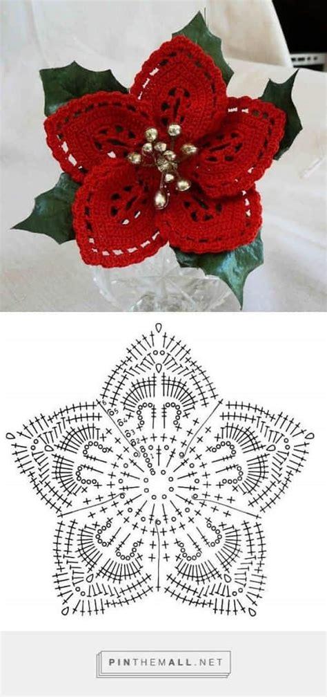 antel de noche buenas a crochet patron para hacer una flor de noche buena a crochet01