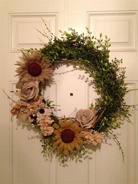 spring wreath     front door  bought