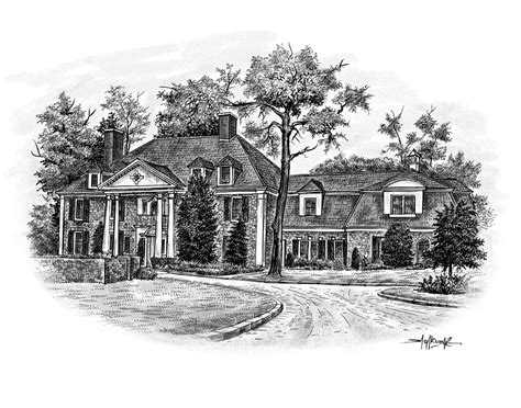 sketch a house house sketches from a photo great realtor client gift