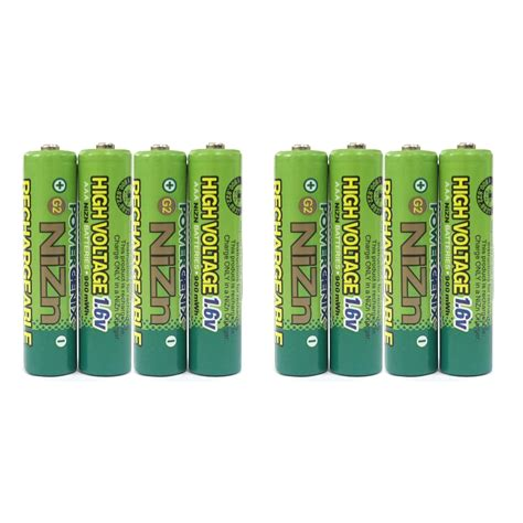 convert capacitor to mah 8 pcs 900mwh 1 6v volt aaa 3a nizn rechargeable battery high voltage powergenix