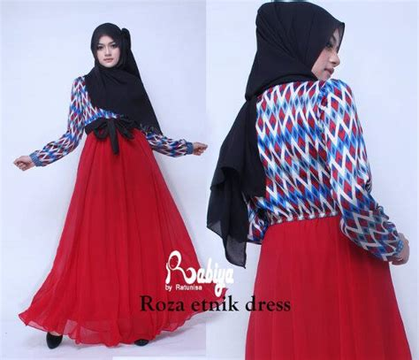Dress Pesta Quine By Ayyanameena roza etnik dress baju muslim gamis modern