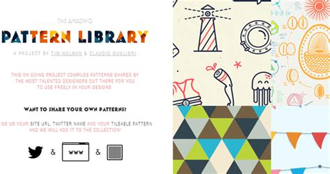 website pattern library 30 awesome free web design resources just creative
