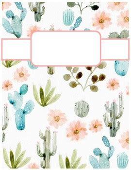cute cactus print binder cover sheets! by cheyenne bowen   tpt