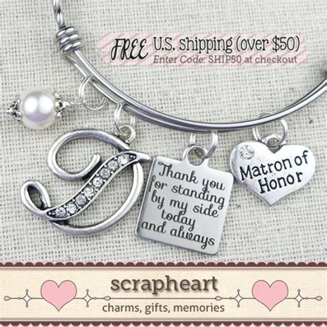 bridal shower gifts from matron of honor matron of honor gift wedding bridal gifts personalized matron of honor bracelet thank