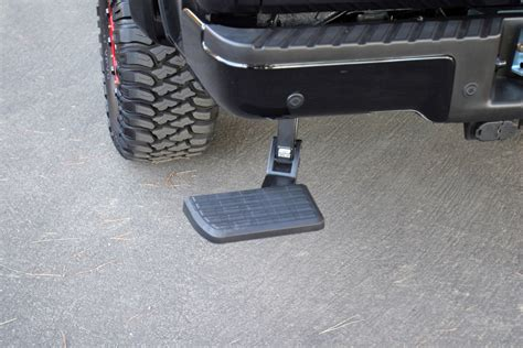 truck bed step bedstep truck bed step by amp research for chevy and gmc 2007 2013 chevy silverado