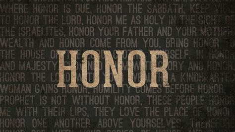 Of Honor honor media theaterchurch