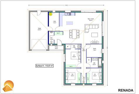 plan maison 4 chambres suite parentale plan maison plain pied 4 chambres avec suite parentale