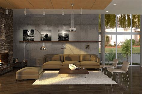 Studio Apartment Rugs living room 1 image created for texturing and lighting