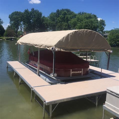 floating boat dock canopy lakes of the four seasons docks and lifts by the dock guy