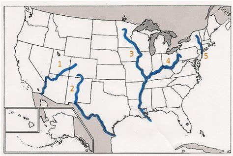 map of us states and major rivers mrswhisnant just another site