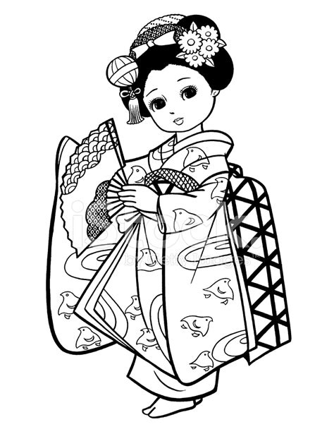 Library of black and white kimono clip art library png