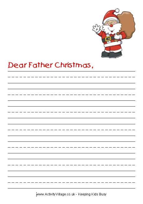 dear santa writing paper santa letter writing paper letter of recommendation