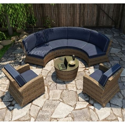 curved outdoor patio furniture forever patio cypress wicker curved sofa sectional 5 pc