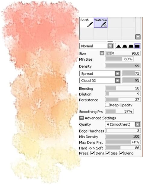 tutorial watercolor brushes rar 15 best paint tool sai brushes images on pinterest