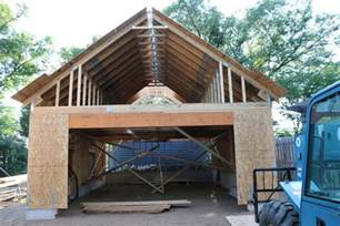 garage truss design new 24 x34 detached garage with attic trusses page 2 the garage journal board home